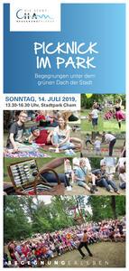 Picknick im Park 2019 Programmflyer