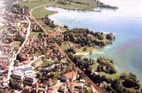 Cham in der Schweiz am Zuger See