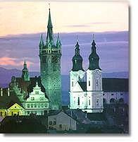 Silhoutte der tschechischen Partnerstadt Klatovy